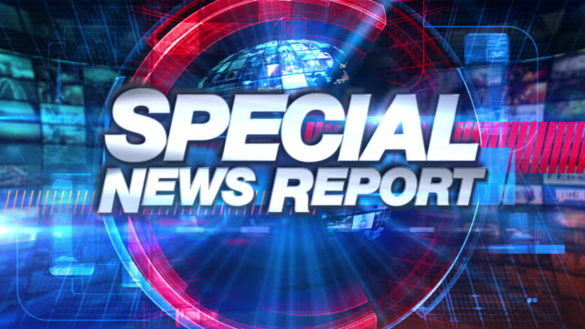 special news report - broadcast tv animation graphic title - servizi video stock e b–roll