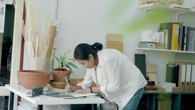 Specification of Material board process: Arclhitect working at home