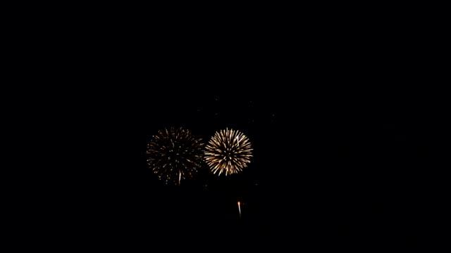 色鮮やかな花火大会 - 花火点の映像素材/bロール