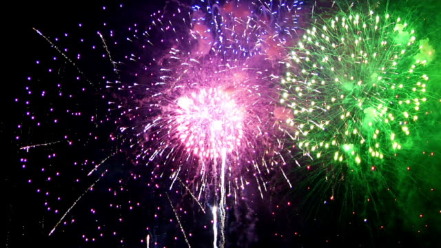 Spectacular Fireworks Finale in HD video