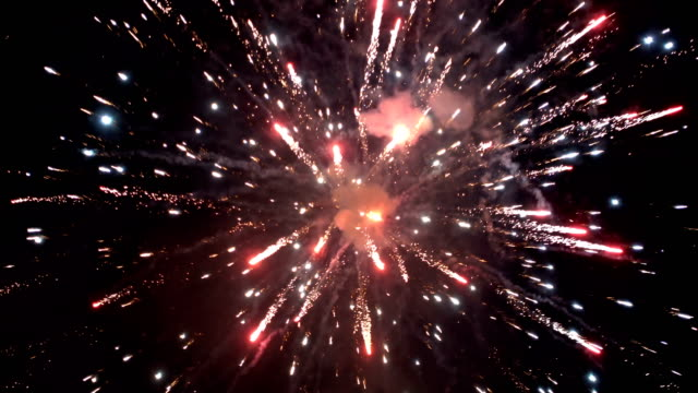 spectacular fireworks - petardo video stock e b–roll