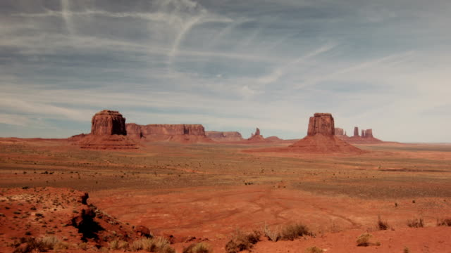 Spectacular time-lapse of clouds across the desert vista at Monument Valley, USA