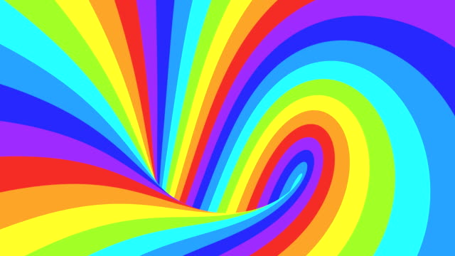 spectrum psychedelic optical illusion. abstract rainbow hypnotic animated background. bright looping colorful wallpaper - spirala wir filmów i materiałów b-roll