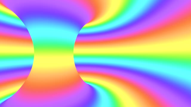 Spectrum psychedelic optical illusion. Abstract rainbow hypnotic animated background. Bright looping colorful wallpaper