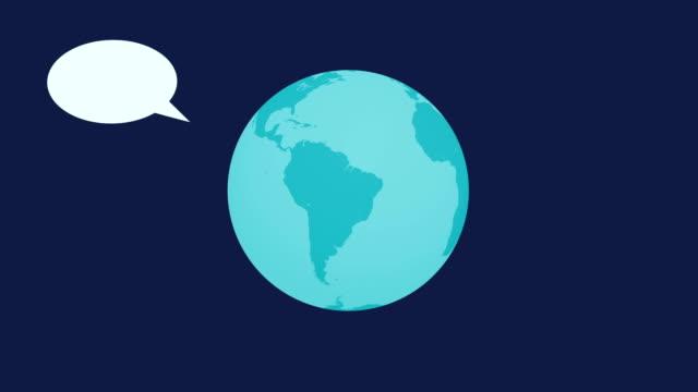 4K Speech Balloon - World Animation World Animation survey icon stock videos & royalty-free footage