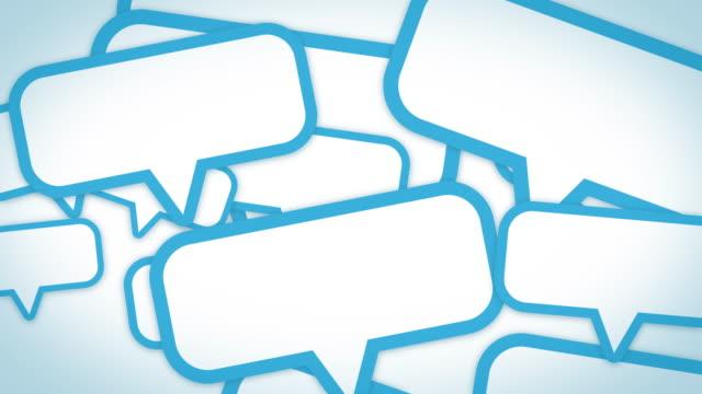 sns speech balloon[loop] - messaggistica online video stock e b–roll