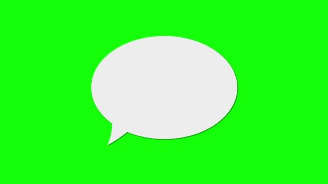 Speech Bubble Green Screen