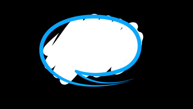 Speech Bubbles Animation of three various speech bubbles on black speech bubble stock videos & royalty-free footage
