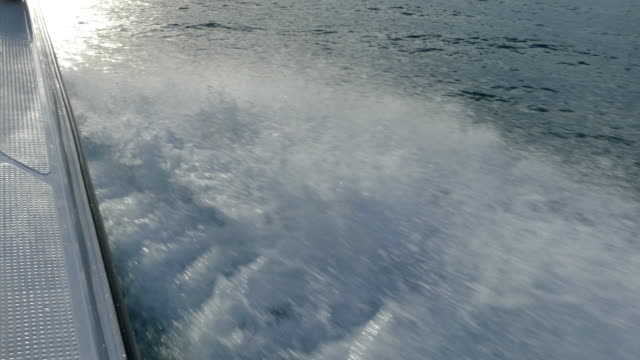 speed boat on rough seas at speed video