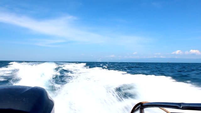 Speed boat wake video