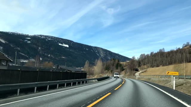 Speed drive in Norway. video