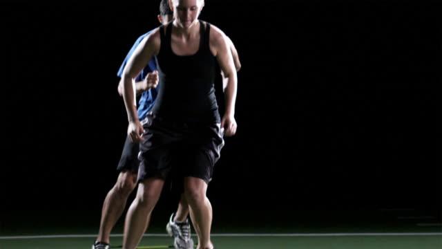 Speed Ladder Training  stamping feet stock videos & royalty-free footage