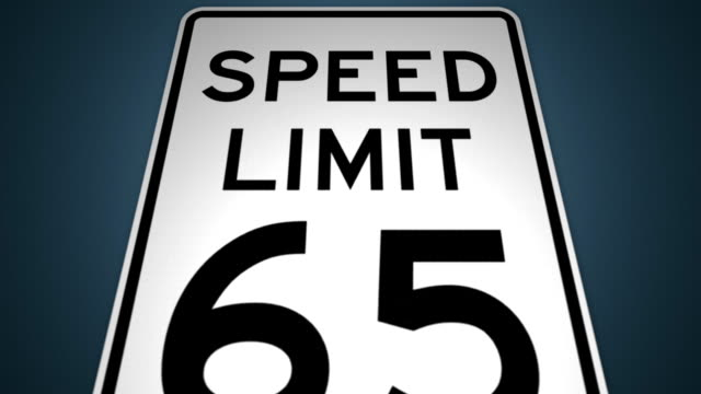 stockvideo's en b-roll-footage met speed limits 35mph 45mph 55mph 65mph photo enforced animation set - maximumsnelheid bord