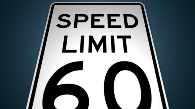 stockvideo's en b-roll-footage met speed limits 40mph 50mph 60mph 70mph photo enforced animation set - maximumsnelheid bord