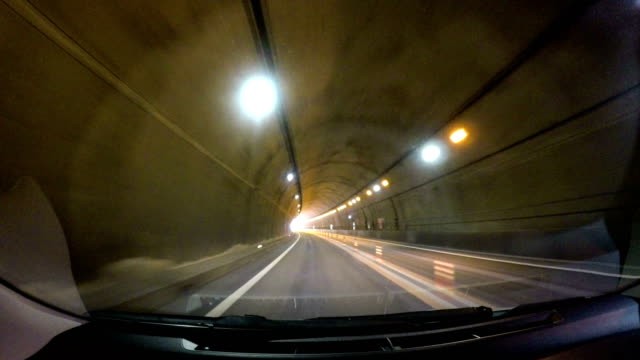 Speed motion in road tunnel video
