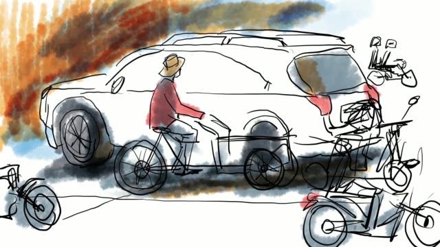 Speed Painting Sketch Traffic video