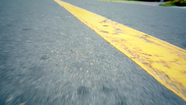Speed road driving lines video