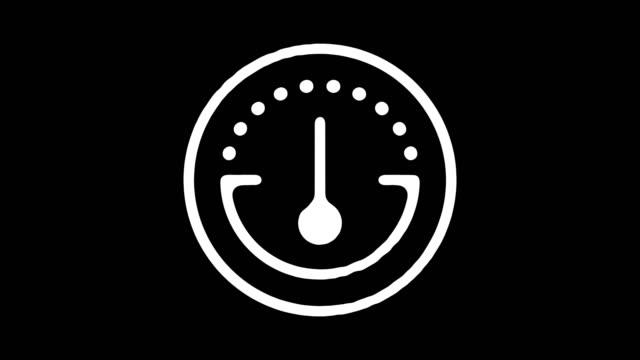 hastighetsmätare gauge blackboard linje animation med alpha - barometer bildbanksvideor och videomaterial från bakom kulisserna