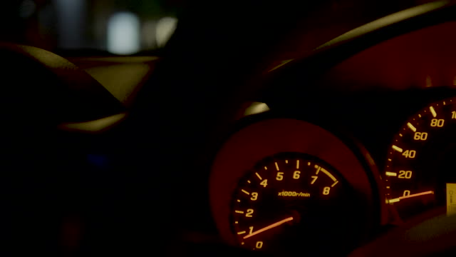 Speedometer night video