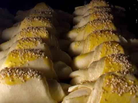speed-up footage of baking food (bun) 27sec video