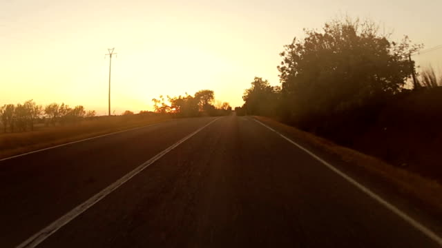 Speedy Car Onboard Camera at Sunset video