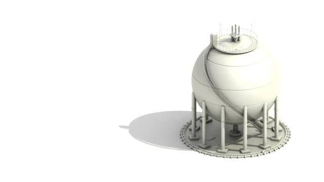 stockvideo's en b-roll-footage met bol gas-opslagplaatsen in petrochemische plant, olietank. - olieraffinaderij