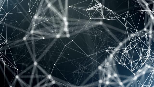 vídeos y material grabado en eventos de stock de esfera, globo y espacio en forma de un plexo. resumen de antecedentes geométrico - plexo