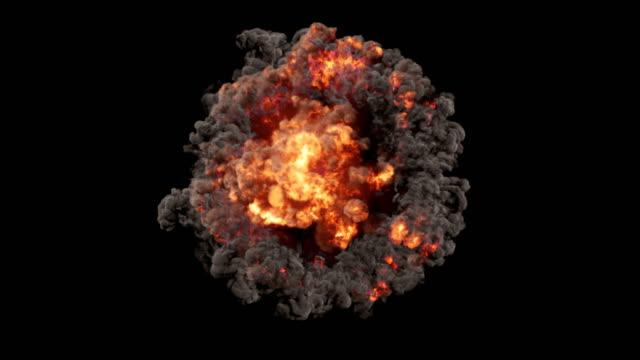 eine sphärische komposition bestehend aus explosionen und elektrischen entladungen - gewitter stock-videos und b-roll-filmmaterial