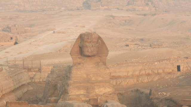 Sphinx and great pyramids at Giza, Cairo, Egypt video