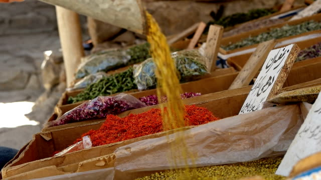 Spices and Herbs on Background