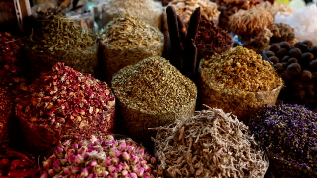 Spices on display at market in Dubai