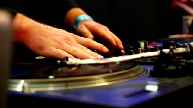 DJ Spinning and Scratching. video