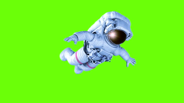 Spinning Astronaut. seamless looping 3d animation - video
