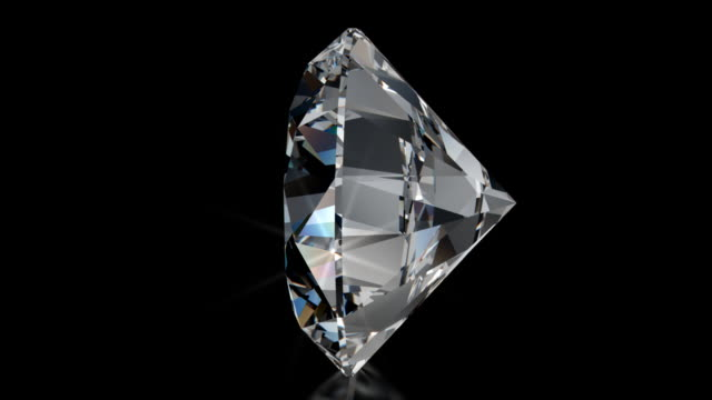 Spinning BRILLIANT Cut Diamond with Sparkles video