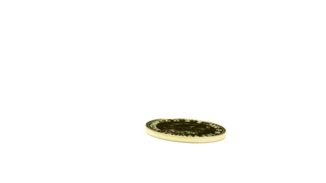 Spinning British pound coin