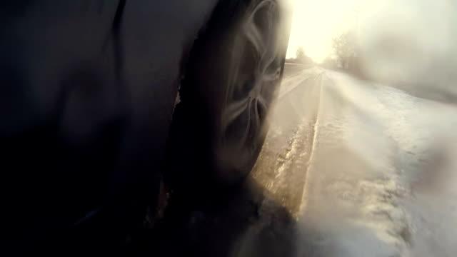 Spinning car wheel video