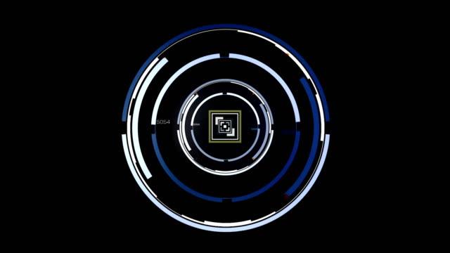 Spinning Circle Burst. Target Concept UI Design Element. video