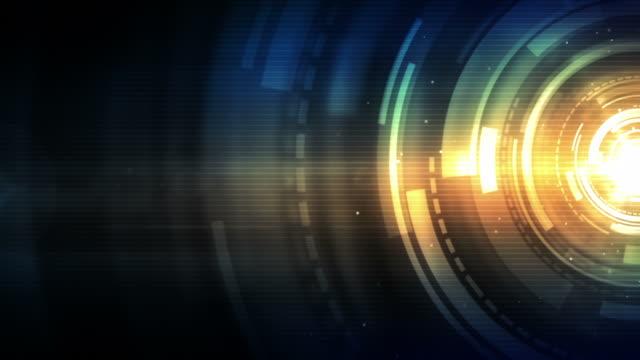 spinning kreisen hintergrund loop-blau gold (full hd - motion design stock-videos und b-roll-filmmaterial
