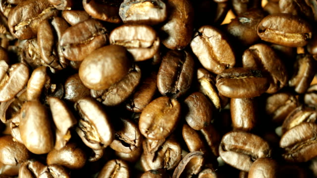 Spinning Coffee Beans. HD video