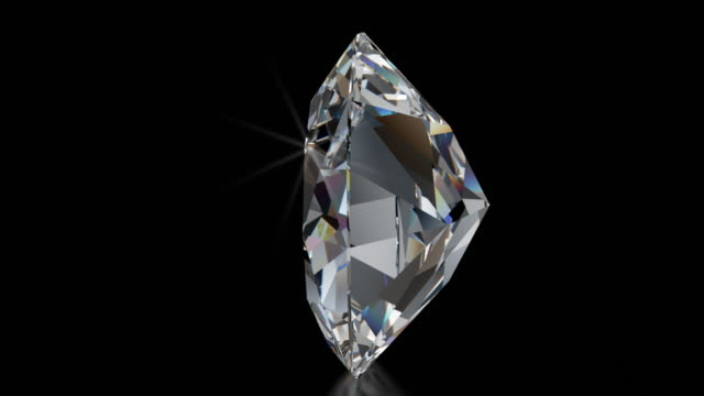 Spinning CUSHION Cut Diamond with Sparkles video