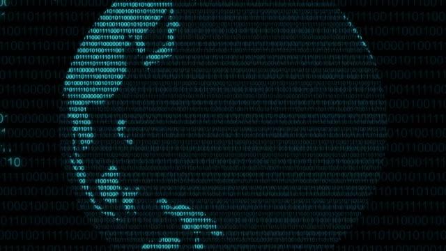 stockvideo's en b-roll-footage met digitale wereld binaire gegevens code cyberspace grafische computeranimatie spinnen - vachtpatroon