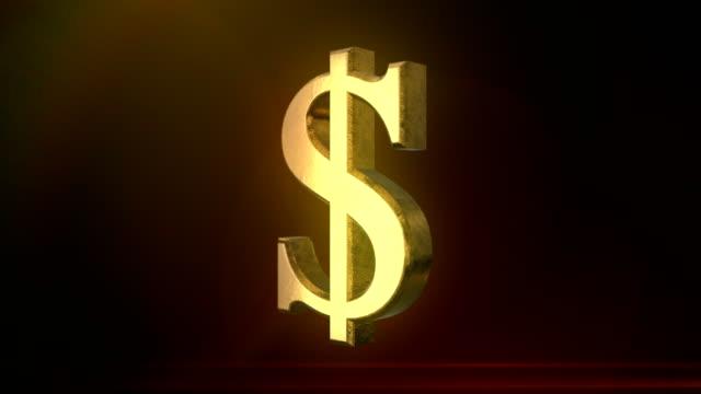 Spinning Dollar Sign video