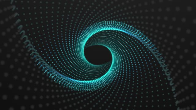 Spinning Dots Eye - Loop -Blue Circle, Cyclic Elements, Spiral continuity stock videos & royalty-free footage