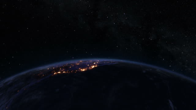 Spinning Earth at night, Northern Hemisphere. Loopable. video