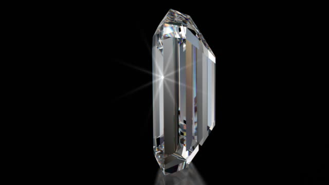 Spinning EMERALD Cut Diamond with Sparkles video