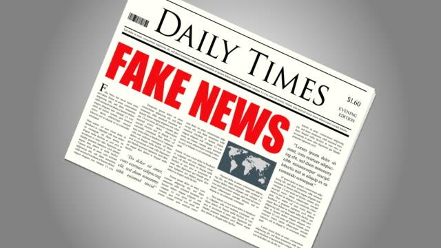 Spinning Fake News Newspaper video