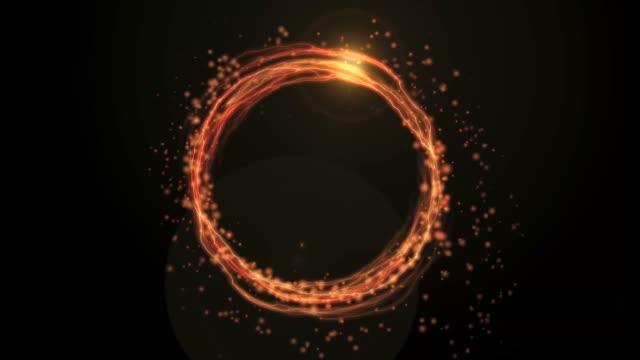 粒子と雷の炎のようなリングを回転 - 指輪点の映像素材/bロール