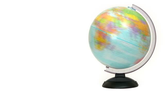 vídeos de stock, filmes e b-roll de giros mundo de - planet