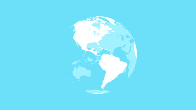 spinning globe - world map stock videos & royalty-free footage