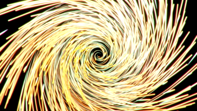 Spinning glowing golden fibers forming a twisting cyclone video